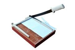Papel del corte del cortador de papel Fotos de archivo libres de regalías