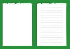 papel del cuaderno   Imagen de archivo libre de regalías