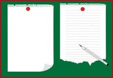 papel del cuaderno   Fotografía de archivo libre de regalías