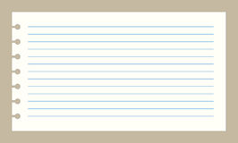 Papel del cuaderno del vector Fotos de archivo