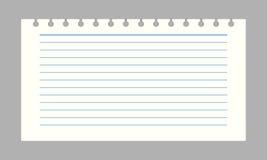 Papel del cuaderno del vector Fotografía de archivo libre de regalías