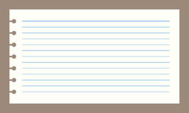 Papel del cuaderno del vector Foto de archivo