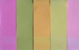 Papel del cuaderno o pequeño papel. Imágenes de archivo libres de regalías