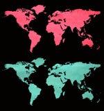 Papel del mundo Fotos de archivo