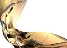 Papel del oro Foto de archivo libre de regalías