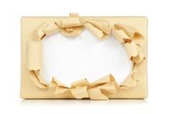Papel del rectángulo rasgado Fotografía de archivo libre de regalías