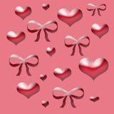 Papel del regalo de la tarjeta del día de San Valentín Foto de archivo libre de regalías