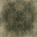 Papel descolorado del vintage del damasco Imagen de archivo libre de regalías