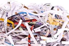 Papel destrozado fotos de archivo libres de regalías
