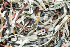 Papel destrozado para reciclar imágenes de archivo libres de regalías