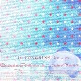 Papel do álbum de recortes da independência dos EUA Imagem de Stock