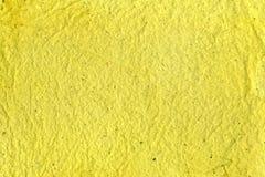 Papel do amarelo de Recicled Fotografia de Stock Royalty Free