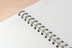 Papel do caderno Fotografia de Stock Royalty Free