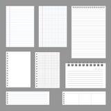 Papel do caderno Imagens de Stock