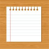 Papel do caderno do vetor Fotos de Stock Royalty Free