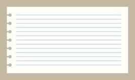 Papel do caderno do vetor Fotos de Stock