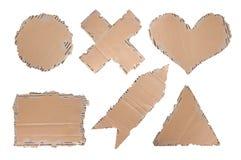 Papel do cartão do coração, da seta, do círculo etc. Fotografia de Stock