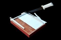 Papel do corte do cortador de papel Imagem de Stock