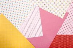 Papel do ofício da cor com testes padrões diferentes Fotografia de Stock