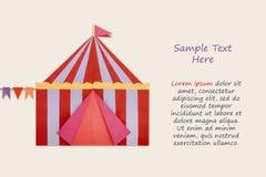 Papel do origâmi da tenda do circus Fotos de Stock
