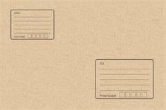 Papel do pacote de Brown com área vazia para o endereço Fundo abstrato para a compra em linha ilustração do vetor