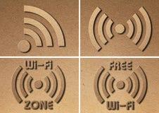 Papel do símbolo de WiFi Imagem de Stock Royalty Free