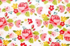 Papel do teste padrão de flor de Rosa Fotografia de Stock
