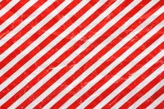 Papel do vermelho e o branco de envolvimento Imagens de Stock