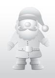 Papel do vetor 3D, Santa Claus Fotografia de Stock Royalty Free