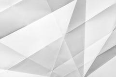 Papel doblado blanco Foto de archivo