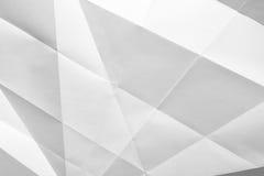 Papel doblado blanco Imagen de archivo
