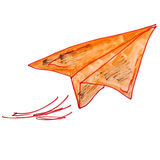 Papel dos desenhos animados do avião da aquarela das crianças do desenho ilustração stock