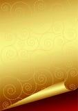 Papel dourado Fotografia de Stock Royalty Free
