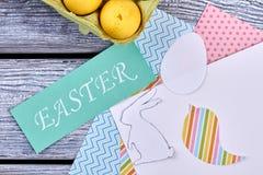 Papel e cartão de Páscoa modelados Fotos de Stock