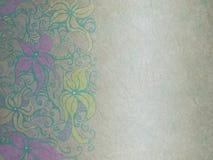 Papel e flor esmagados Imagens de Stock Royalty Free