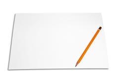 Papel e lápis foto de stock
