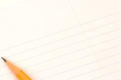 Papel e lápis Fotos de Stock