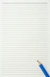 Papel e lápis Imagem de Stock Royalty Free