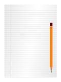 Papel e lápis Fotografia de Stock Royalty Free