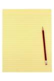 Papel e lápis amarelos imagem de stock royalty free