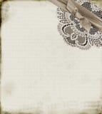 Papel e laço Imagens de Stock Royalty Free