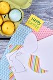 Papel e ovos da páscoa modelados Imagem de Stock Royalty Free
