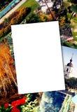 Papel em branco da foto fotografia de stock