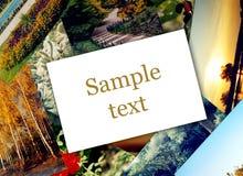 Papel em branco da foto Fotos de Stock