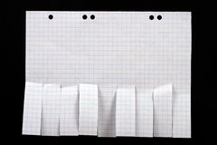 Papel em branco do anúncio com enxertos do corte Fotografia de Stock