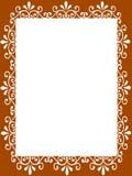 Papel em branco do frame Fotografia de Stock