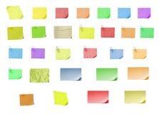 Papel em branco isolado do post-it sobre com fundo Foto de Stock Royalty Free