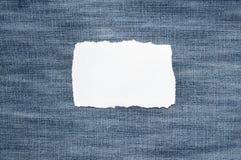 Papel em calças de brim Fotografia de Stock