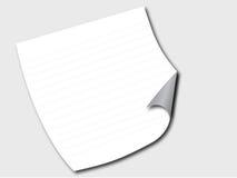 Papel em um assoalho ilustração do vetor