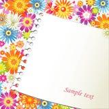 Papel em um fundo floral Imagem de Stock